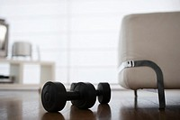 Dumbbells Lying on Floor