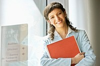 Businesswoman Holding File