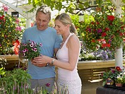 Couple in a garden centre (thumbnail)