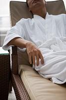 Man relaxing in spa
