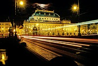 National Theater, Legions Bridge. New Town. Prague. Bohemia. Czech Republic