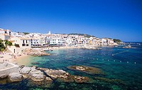 Spain, Europe, Catalonia, Costa Brava, province Girona, Calella de Palafrugell, bathing, Resort, beach, fishing place,