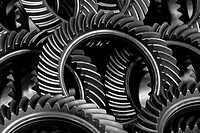 gearwheels, steel, metal, gear transmission, mechanics, power transmission, industry, production, achievement, product