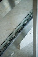 Escalator, high angle view