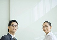 Business executives, head and shoulders, portrait