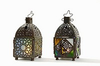Arabian hand lanterns, close-up