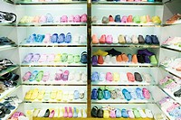 Racks of shoes