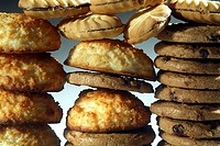 Close-up of a stack of cookies