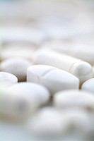 Close-up of pills and tablets