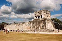 The Ball Game Hall. Mayan ruins of Chichen Itza. Yucatan. Mexico