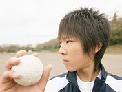 Teenageboy playing baseball
