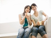 Young women wearing jeans
