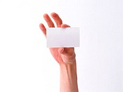 Business Card and Hand