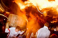 Rolling of the Tar Barrels Ottery St Mary Devon GB