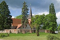 Trees around church, Germany