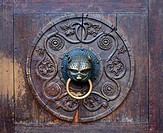 Close_up of doorknocker