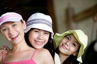 Portrait of young women smiling (thumbnail)
