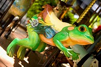 Close-up of a carousel frog
