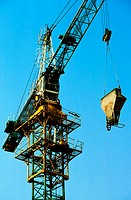 Low angle view of a crane, Beijing, China