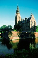 Castle at the waterfront, Frederiksborg Castle, Copenhagen, Denmark