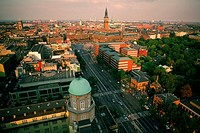High angle view of a city, Copenhagen, Denmark