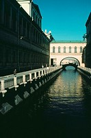 Buildings along a canal, Hermitage Museum, Summer Palace, St  Petersburg, Russia