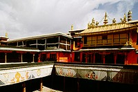 High section view of a temple, Jokhang Temple, Lhasa, Tibet, China