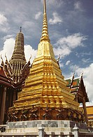 Low angle view of a temple, Wat Phra Kaew, Grand Palace, Bangkok, Thailand