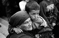 albania, kukes, may 1999, refugees camp