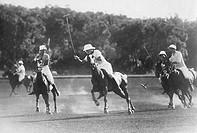 sport, partita di polo, 1940_1950