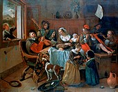 Jan Steen ´The Merry Family´, 1668  Found in the collection of the Rijksmuseum