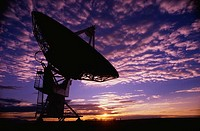 This is the Very Large Array or VLA at the National Radio Astronomy Observatory  It represents communication