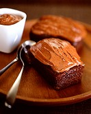 frosted chocolate cakes
