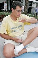 Florida, Miami Beach, Lincoln Road, Falun Gong, Dafa, meditation exercise