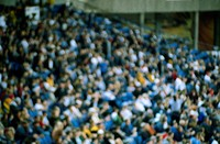 Blurred View of Crowd at Stadium