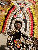 Elaborate costume, made of golf balls! Ati Atihan Festival, mardi gras of the Philippines