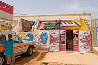 Sudan, Khartum, decorated shops (thumbnail)