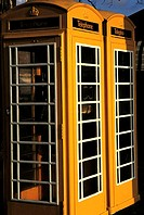 Channel Islands, Guernsey, St Peter Port, phone boxes
