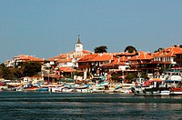 Bulgaria, Nesebar, city and harbour