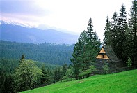 Poland, near Zakopane, traditional dwelling
