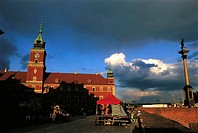 Poland, Warsaw, old city, royal castle and Sigismund Column