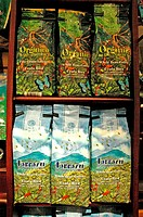 Costa Rica, Arenal Volcano National Park, Tabacon, coffee on sale (thumbnail)
