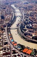 europe, italy, lazio, rome, aerial view