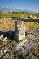 europa, italia, abruzzo, montenerodomo, iuvanum, archeological area