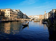 Grand canal and rialto bridge