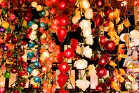 Thailand, Bangkok, Patpong Night Market, brightly colored lights for sale (thumbnail)