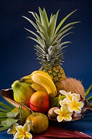 Studio shot of a variety of tropical fruit (thumbnail)