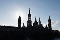 Basilica of Nuestra Señora del Pilar.  Zaragoza. Aragón, Spain