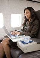 Business Traveler Using a Laptop