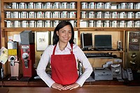 Waitress Standing at Counter